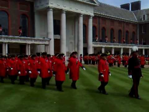 Hooligan bikers invade Royal Hospital Chelsea royal parade 01