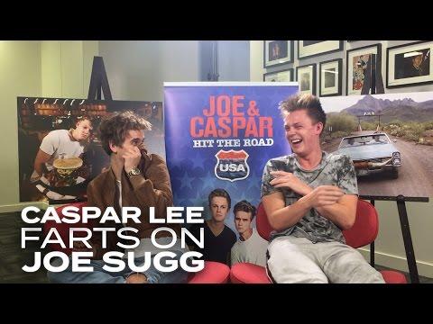 Caspar Lee lets one rip on Joe Sugg!