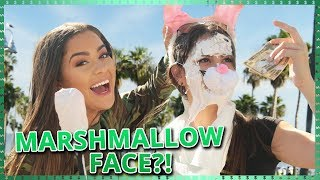 MARSHMALLOW FACE CHALLENGE!!  Do It For The Dough w/ Tessa Brooks and Tristan Tales