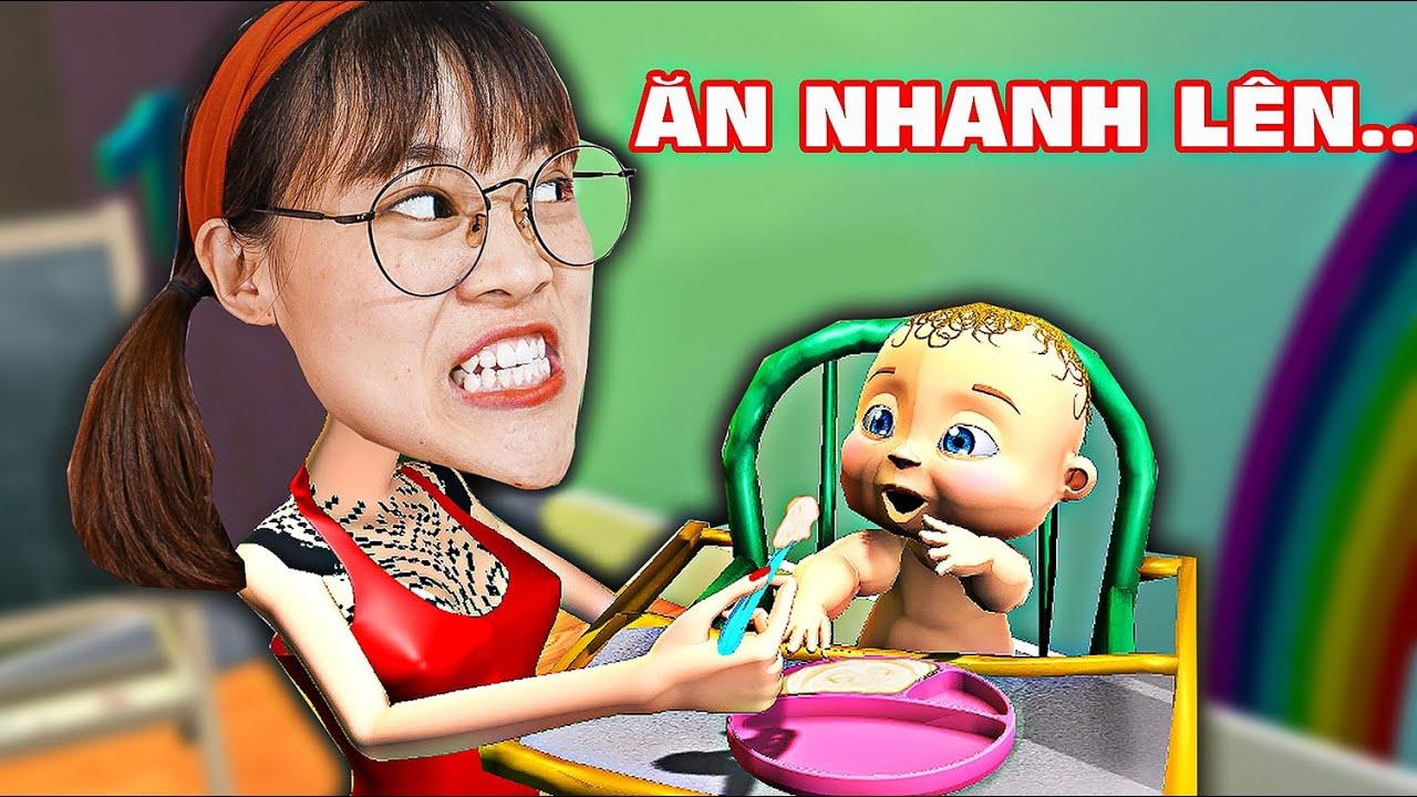 Hà Sam Lần Đầu Làm Mẹ Cho Em Bé Tập Ăn Trong Game Mother Life Simulator