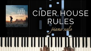 The Cider House Rules - Main Theme/Pure Michigan Theme (Piano Solo + Tutorial)