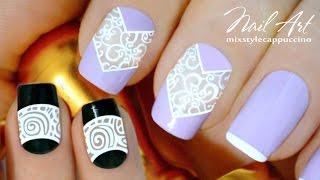 NailArt Хитрости ♥ 2 Дизайна Ногтей при помощи Стемпинга | Stamping NailArt MixStyleCappuccino