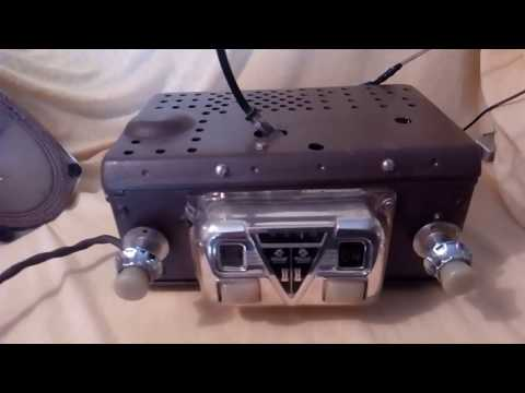 Restored 1947 Zenith DB-46 car tube radio for Hudson cars, working fine.