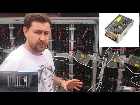 Светодиодный LED экран своими руками из 99 модулей размером 2880 на 1760 мм