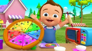 Making Pizza DIY - Kids Toddlers Activities Little Baby Learn Colors for Children with Pizza Slices