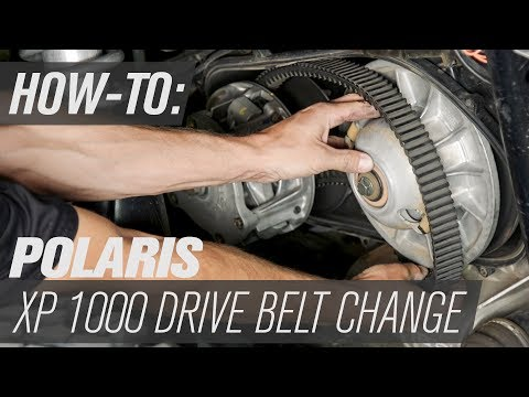 Polaris OEM Drive Belt Change | Polaris RZR XP 1000 - YouTube