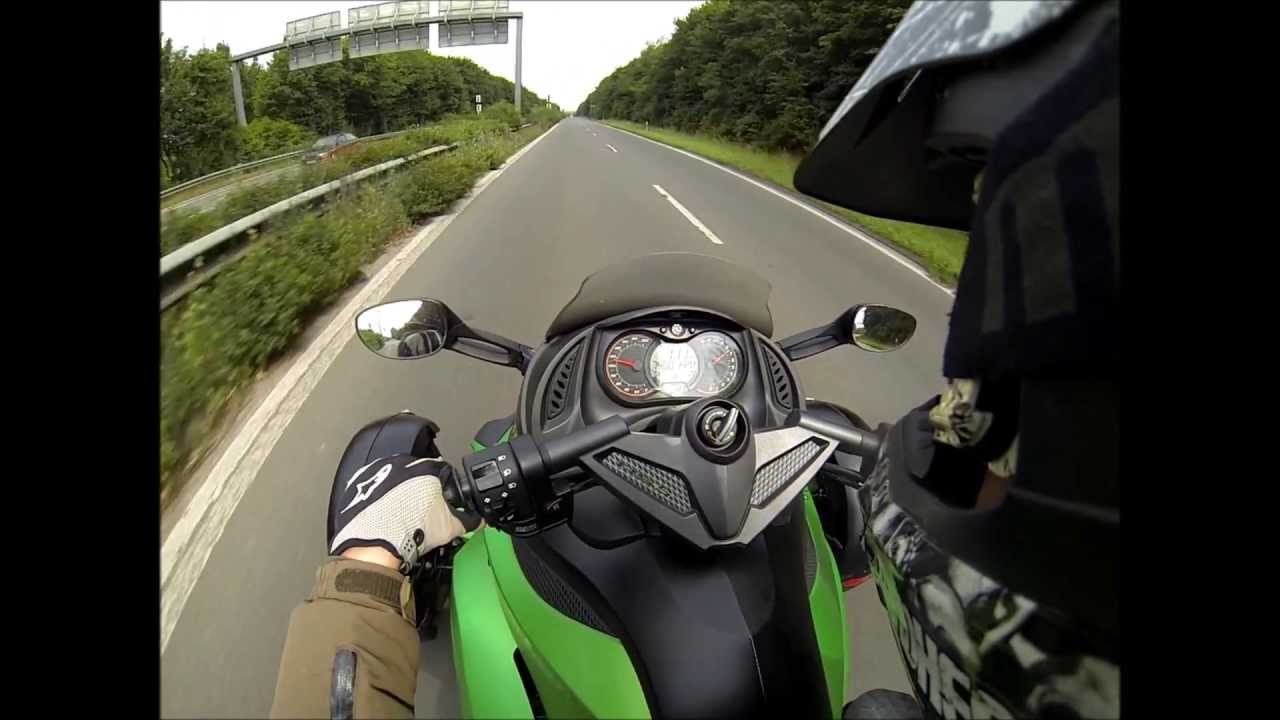 180km/h Top Speed Can Am Spyder RS with GoPro Hero 3 Black Edition ...
