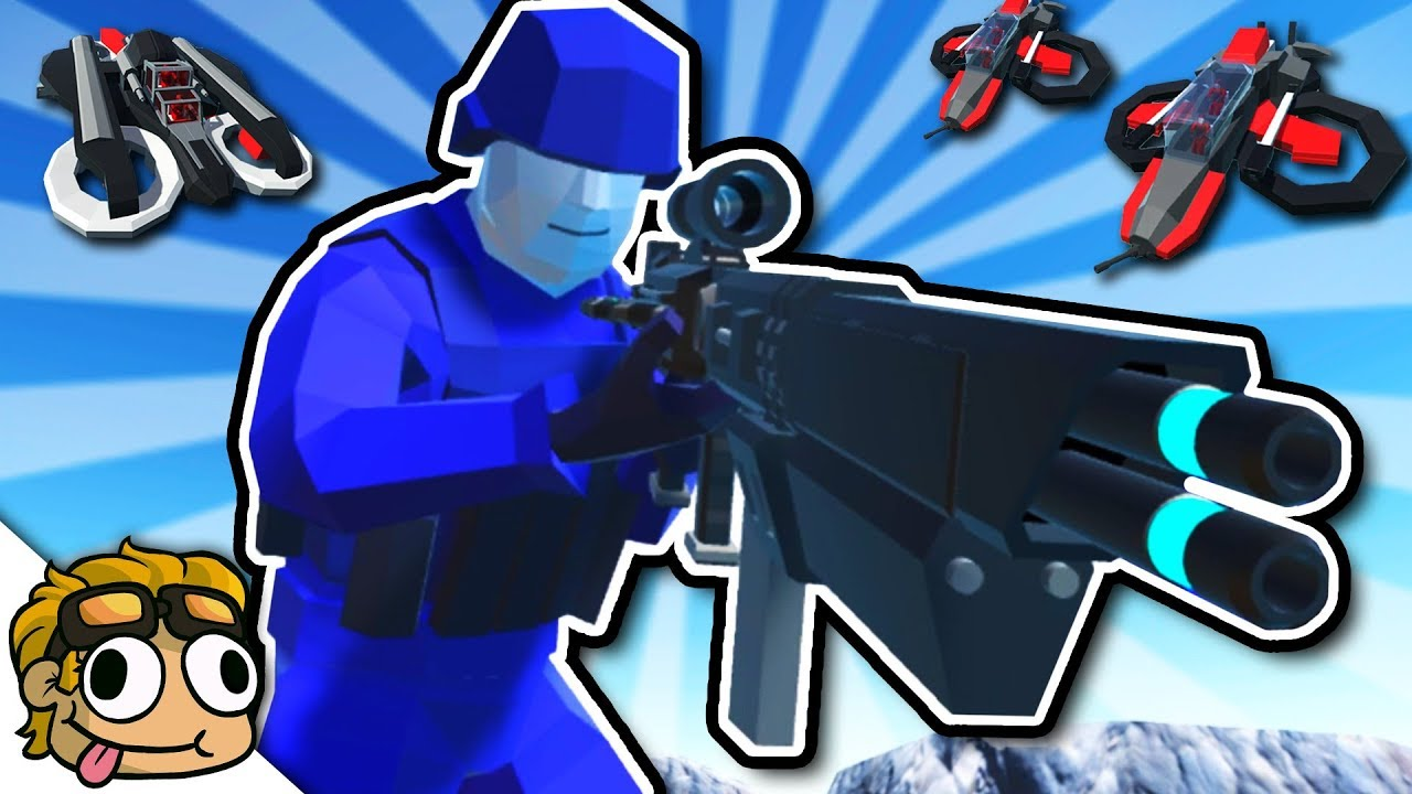 HOVERCRAFT and FUTURE TECH MODS! | Ravenfield Weapon and Vehicle Mod Beta  Gameplay