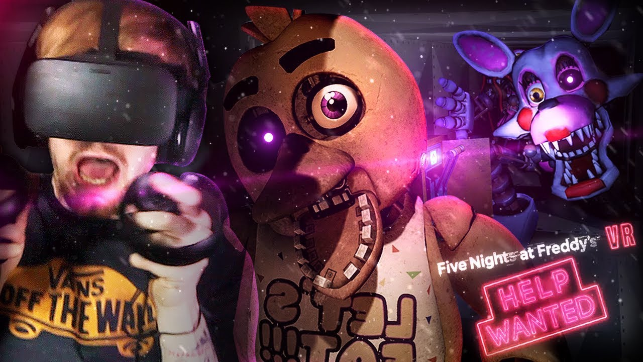 GUYS   THERE'S AN ANIMATRONIC IN THE VENTS WITH US     FNAF VR: Help Wanted  (Part 2)