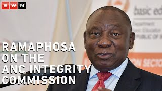 In a sit down interview on 15 January 2021, President Cyril Ramaphosa answered questions on the ANC's integrity commission. Ramaphosa also said that the corruption case involving ANC secretary-general Ace Magashule is being attended to.