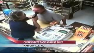 Missouri Liquor Store Clerk Pulls Gun on Armed Robber