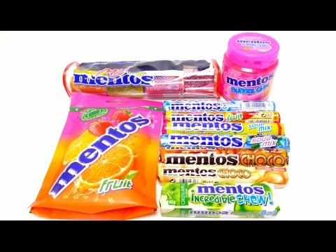 New Big Mentos Compilation Unboxing - Mentos Fruits, Incredible Chew, Choc, Soda Mix, Sour Mix