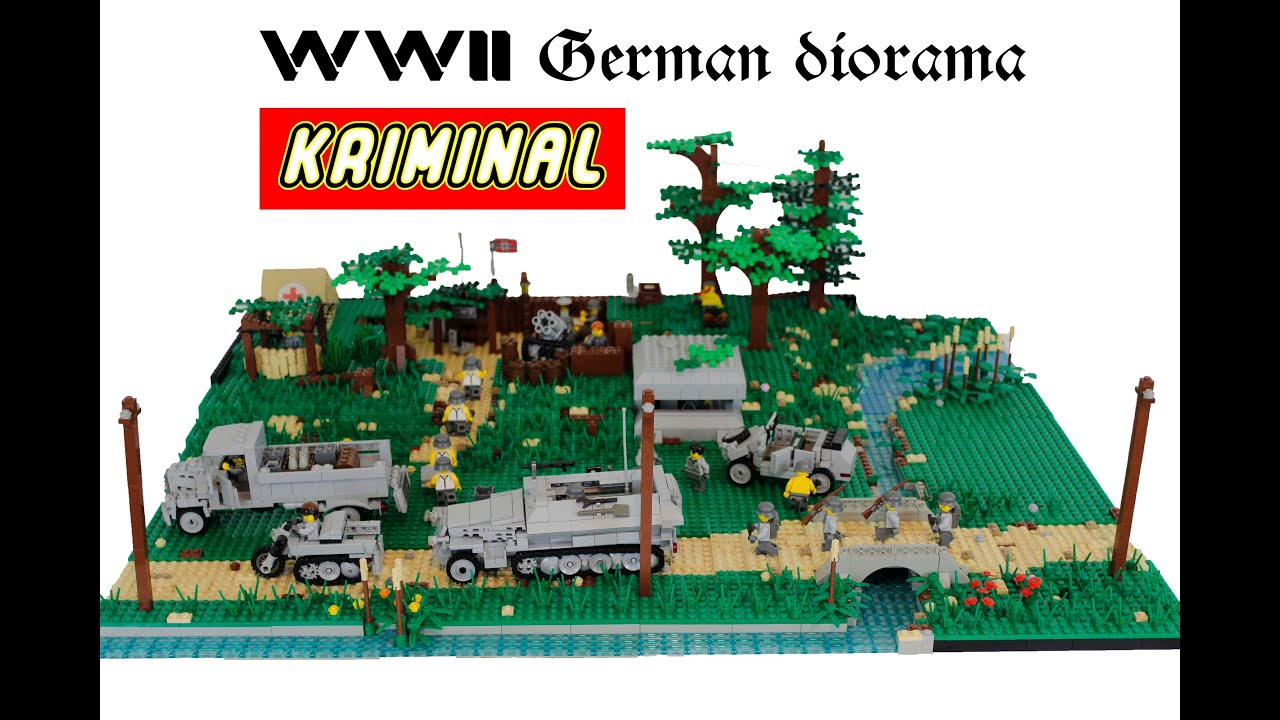 Lego wwii wehrmact diorama france country 1943 youtube for Siege lego france