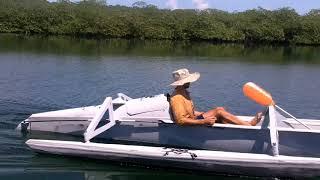Ultralight Solar Speedboat 021 Testing New Prop n Breakin' Stuff