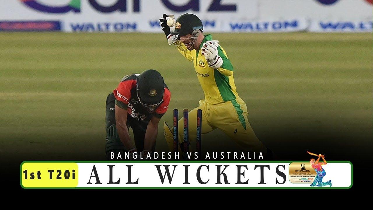 Download All Wickets    Bangladesh vs Australia    1st T20i    Australia tour of Bangladesh 2021