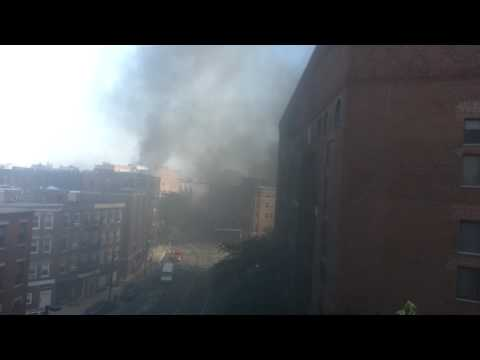 Fire At Coast Guard Station On Commercial Street