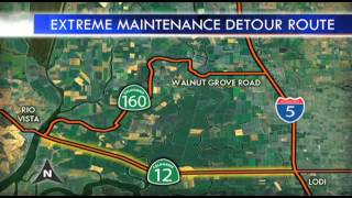 Full Highway Closure on HWY 12 in San Joaquin County, California