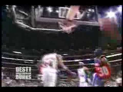Amare Stoudamire Dunks on Michael Olowokandi