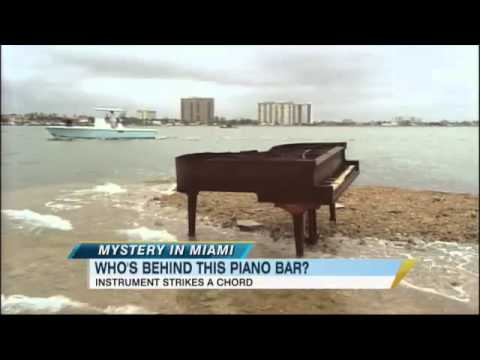 Piano Appears On Sandbar In Miami's Biscayne Bay 1/26/2011