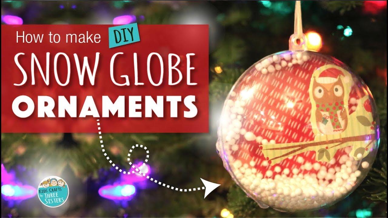 How To Make A Snow Globe Ornament Easy Diy Christmas Craft For