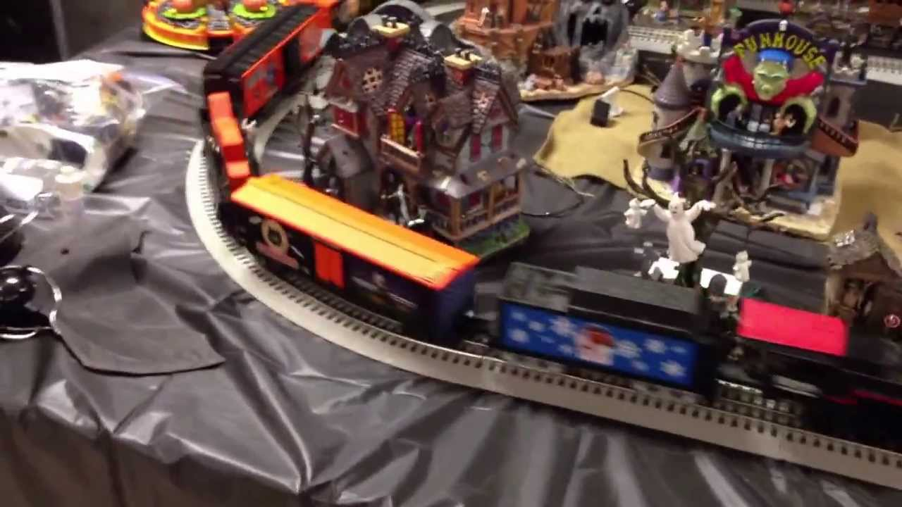 lionel halloween train set layout oct 2013 youtube - Lego Halloween Train