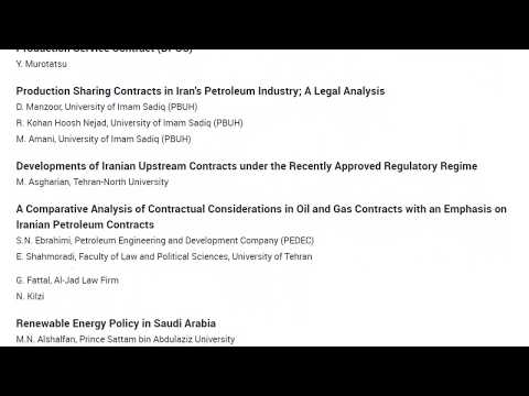 OGEL 3 (2017) - Energy Law and Policy in the Middle East and North Africa (MENA)