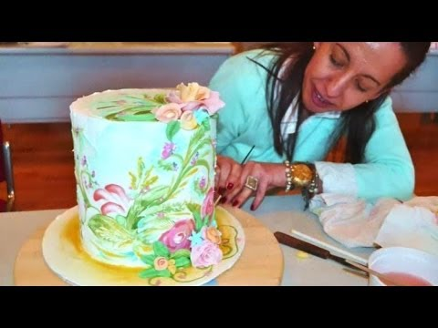 Royal Icing Cake Painting