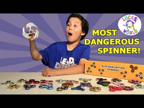 WORLD'S DANGEROUS SPINNER! Rare Fidget Spinners Surprise Box & Platinum Spinners Collection