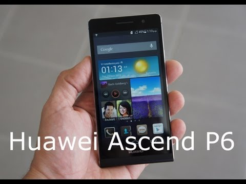 Huawei Ascend P6 hands-on (Greek)