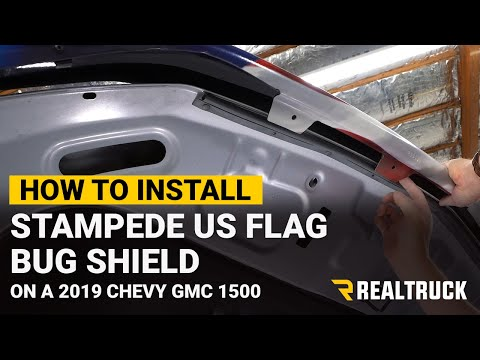 How to Install Stampede US Flag Bug Shield on a 2019 Chevy Silverado