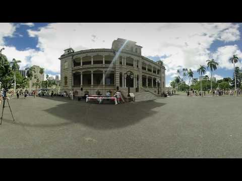 Theft of a Nation on the Iolani Palace Grounds - a 4k 3D 360 VR Video