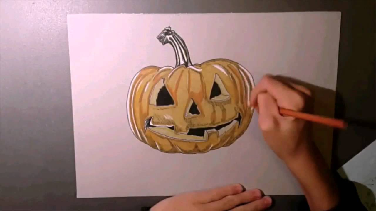 How To Draw Pumpkin Carving