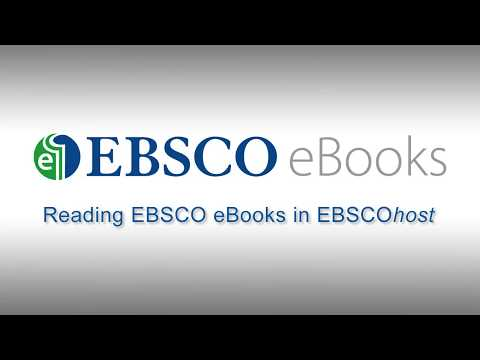 Reading EBSCO eBooks - Tutorial