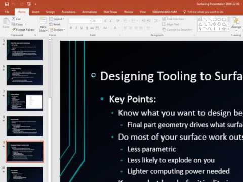 WMLSWUG Surfacing Data import, repair, and fixture design by Dale Slotman - Part 2 - 12/01/2016