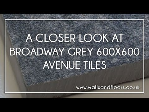 Avenue Tiles: Broadway Grey 600x600mm - Product Video