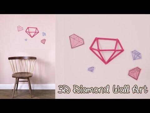 3D Diamond Wall Art Decoration - Upcycle DIY | Sunny DIY - YouTube