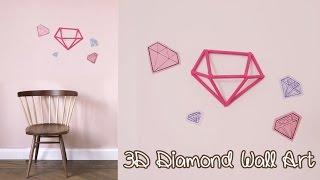 3d Diamond Wall Art Decoration - Upcycle Diy | Sunny Diy