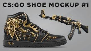1 AK-47 Horus Ayakkabı Sanatı Hızı Maketi #