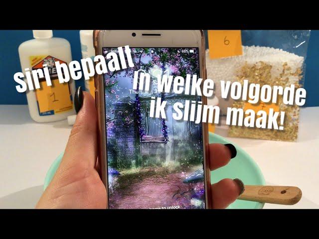 Laatste SLIJMMARATHON-video: Siri bepaalt in welke VOLGORDE mijn dochter van 14 slijm maakt 😆