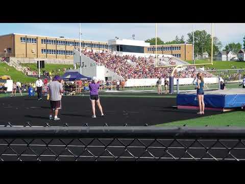"Julia Smith 2018 Regional Champ High Jump 5'8"" New Regional Record"