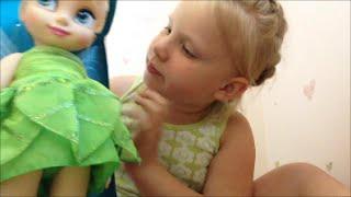 Кукла Фея Динь-Динь малышка обзор Дисней. Tinker Bell review Disney Animators Collection