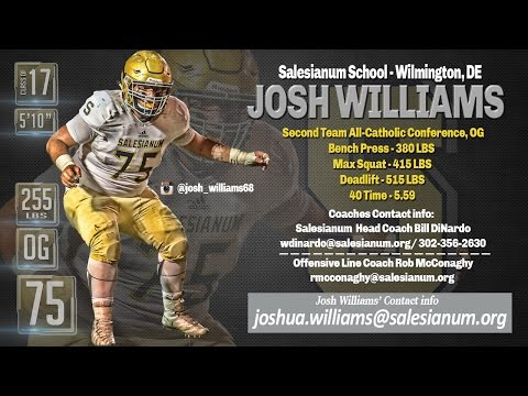 Josh Williams 2016 Highlights, Salesianum School