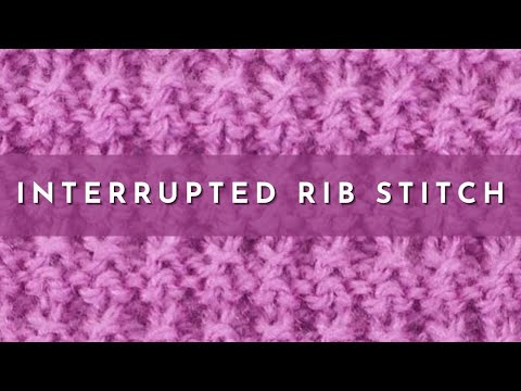 Knit Rib Stitch How To : How to Knit the Interrupted Rib Stitch ( english style ) - YouTube