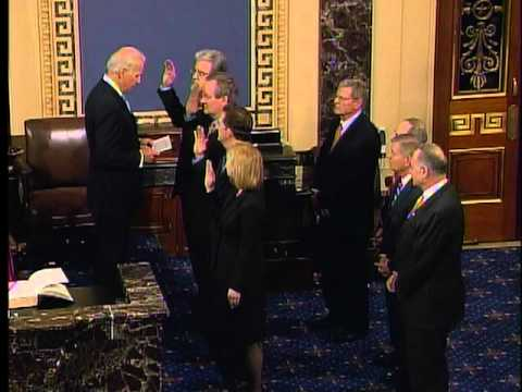 Dr. Coburn being sworn into 112th Congress