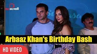 Sohail Khan With Wife  Seema Sachdev At Arbaaz Khan's Birthday Celebration Party Birthday Bash
