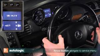 How to Reset Service Info Via the Instrument Cluster on Mercedes-Benz W251 Chassis vehicles