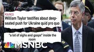 See Impeachment Smoking Gun Go Off: Aide Says Trump Led Bribery Plot | MSNBC