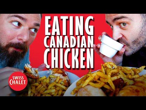 American Tries Canadian CHICKEN Restaurant Swiss Chalet
