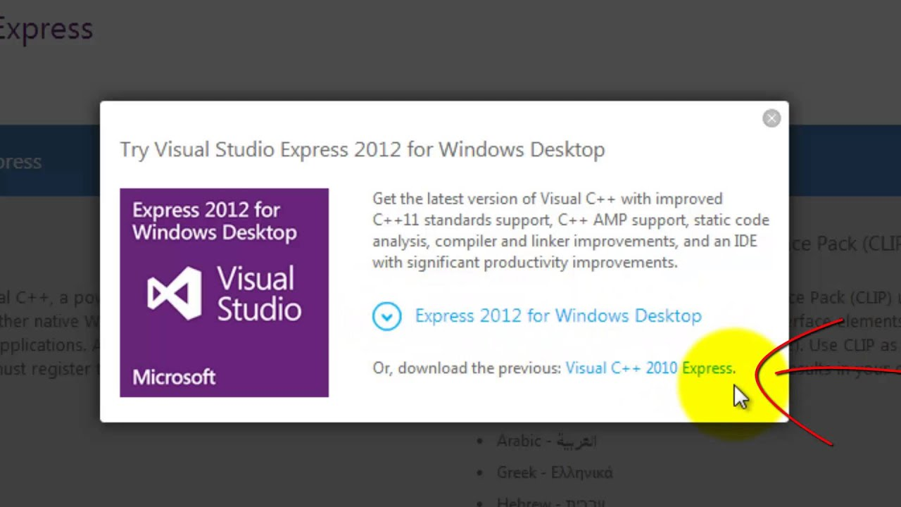 download visual studio 2010 installer