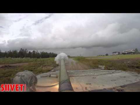 Jämi Fly In 2015 -  BMP-1 AFV gun pyrotechnics / gun shot